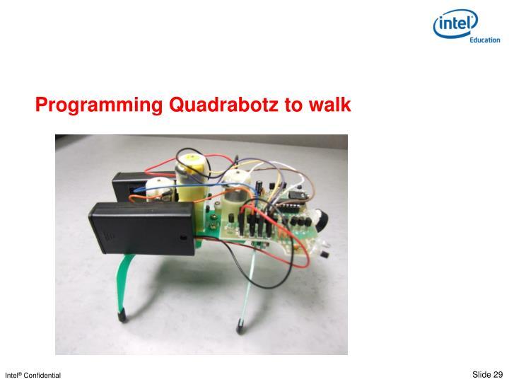 Programming Quadrabotz to walk