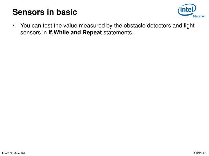 Sensors in basic
