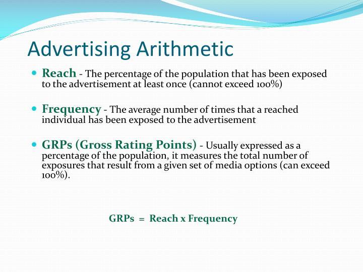 Advertising Arithmetic