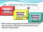 imc a broader view of advertising