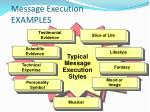 message execution examples