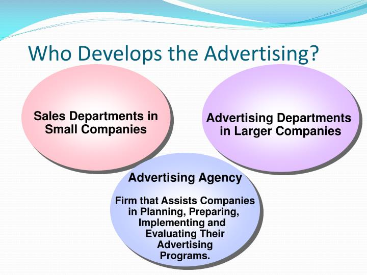 Who Develops the Advertising?