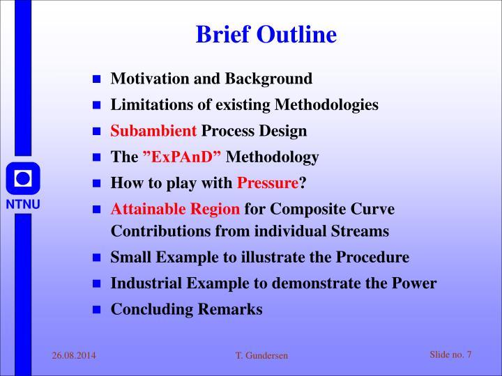 Brief Outline