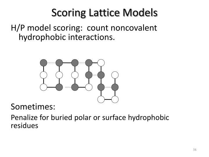 Scoring Lattice Models