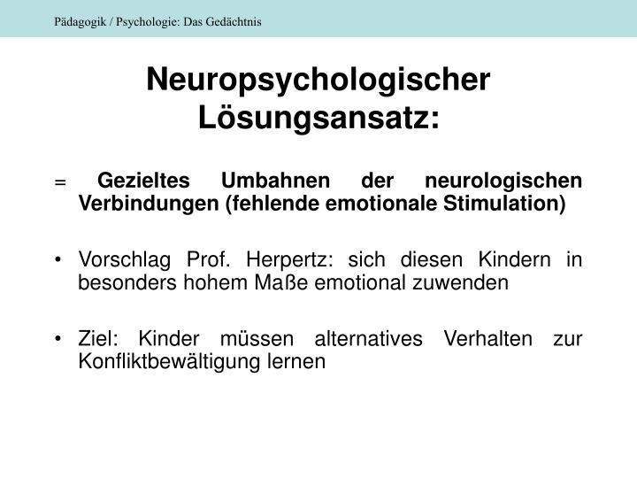 Neuropsychologischer Lösungsansatz: