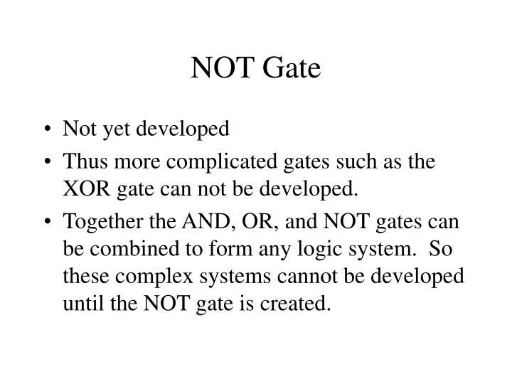 NOT Gate