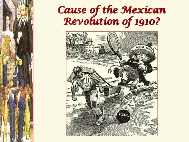 Cause of the Mexican Revolution of 1910?