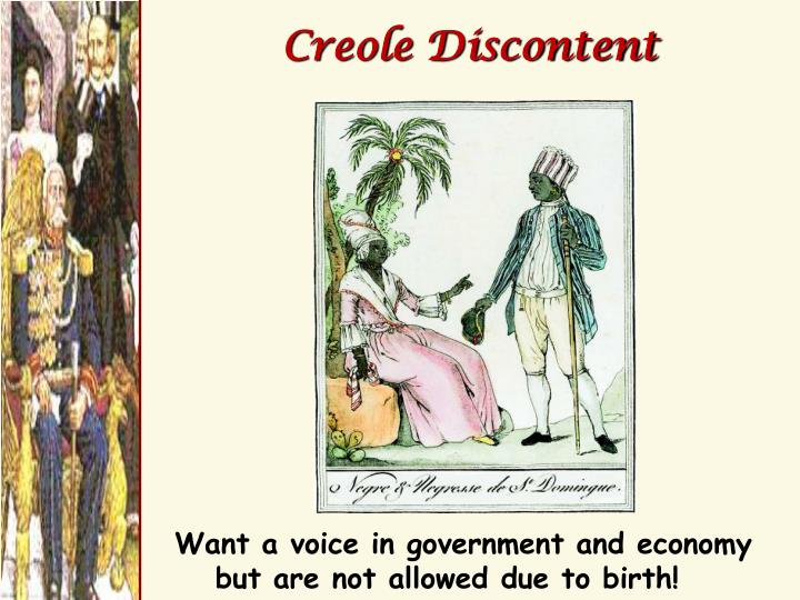 Creole Discontent