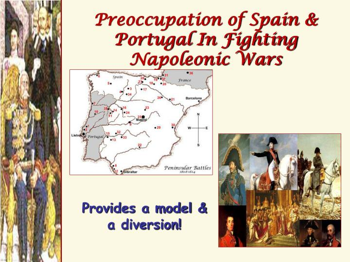Preoccupation of Spain & Portugal In Fighting Napoleonic Wars