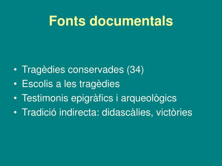 Fonts documentals