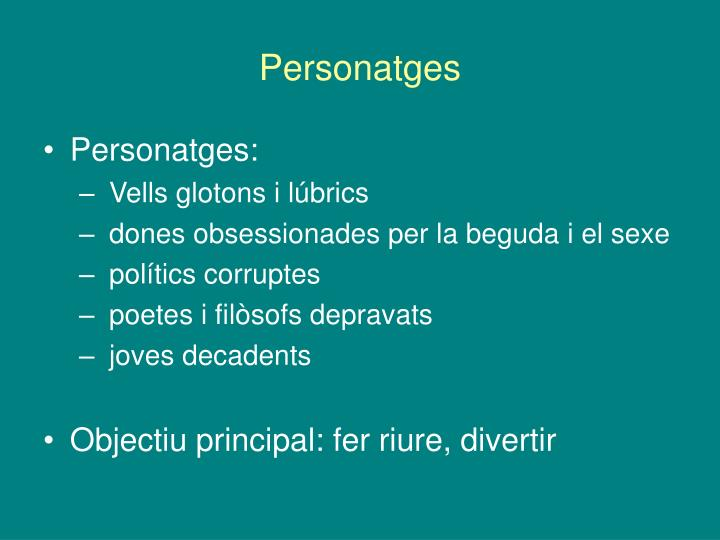 Personatges