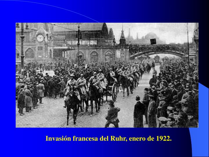 Invasión francesa del Ruhr, enero de 1922.