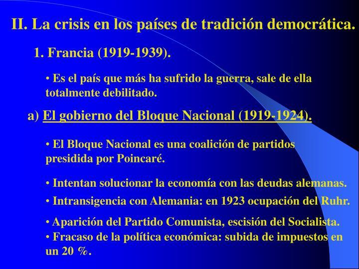 II. La crisis en los países de tradición democrática.