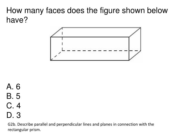 How many faces does the figure shown below have?