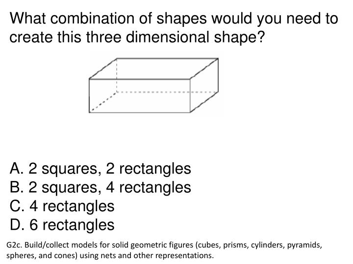 What combination of shapes would you need to create this three dimensional shape?