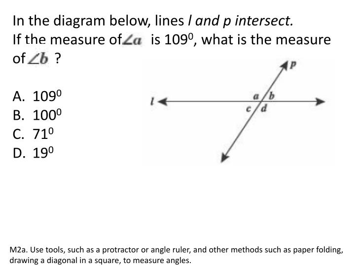 In the diagram below, lines