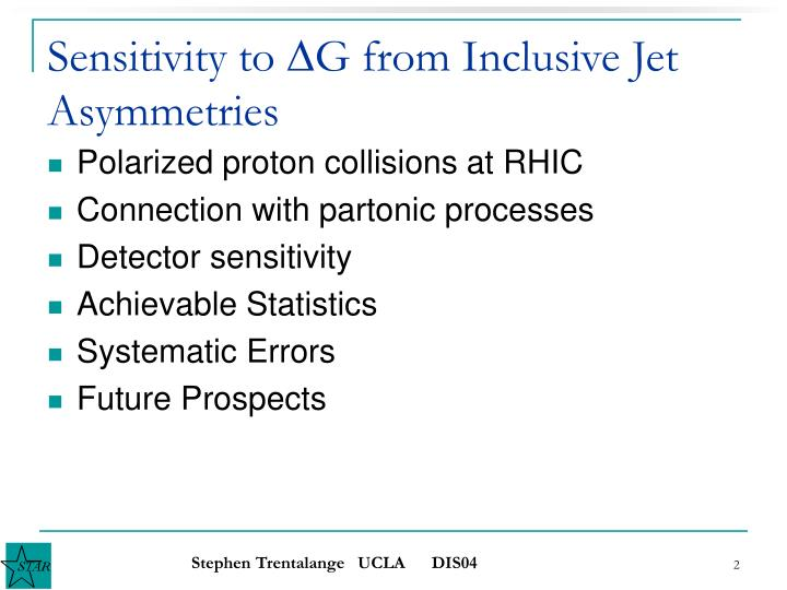 Sensitivity to d g from inclusive jet asymmetries