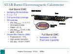 star barrel electromagnetic calorimeter