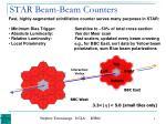 star beam beam counters