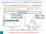 systematic error a ll in relative luminosity