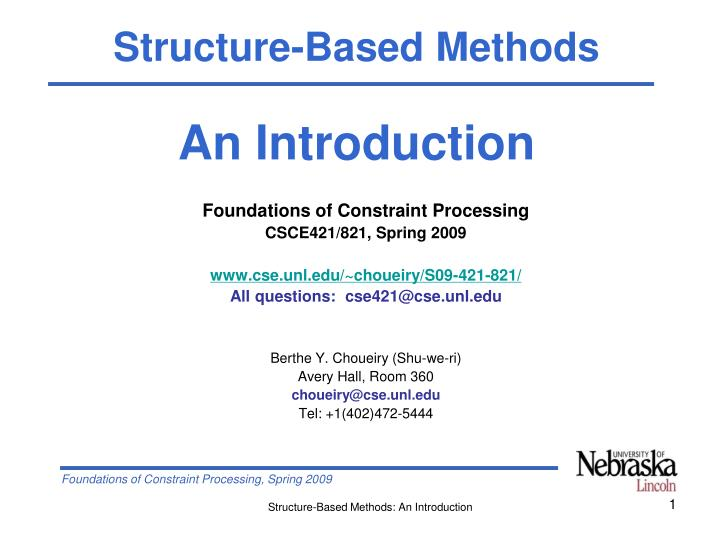 Structure-Based Methods
