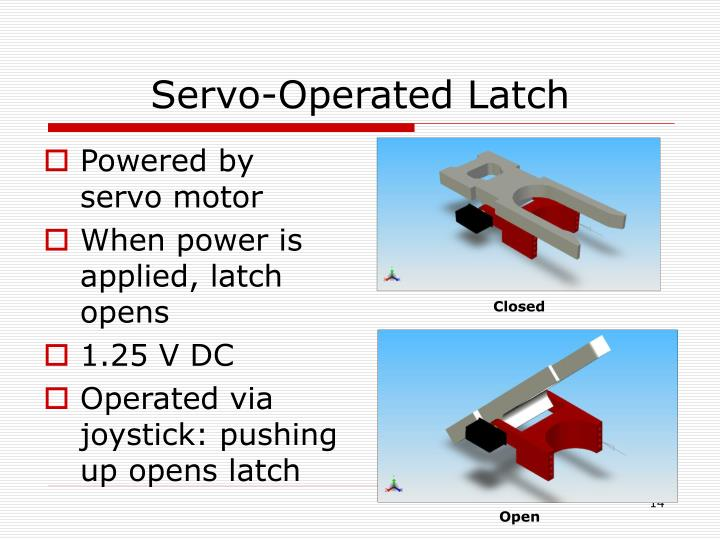 Servo-Operated Latch