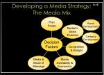 developing a media strategy the media mix3