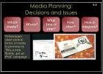 media planning decisions and issues