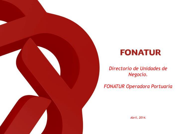 Directorio de Unidades de Negocio.