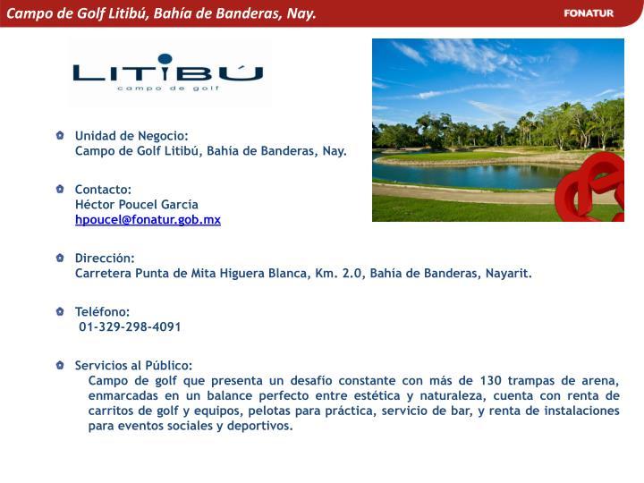 Campo de Golf Litibú, Bahía de Banderas, Nay.