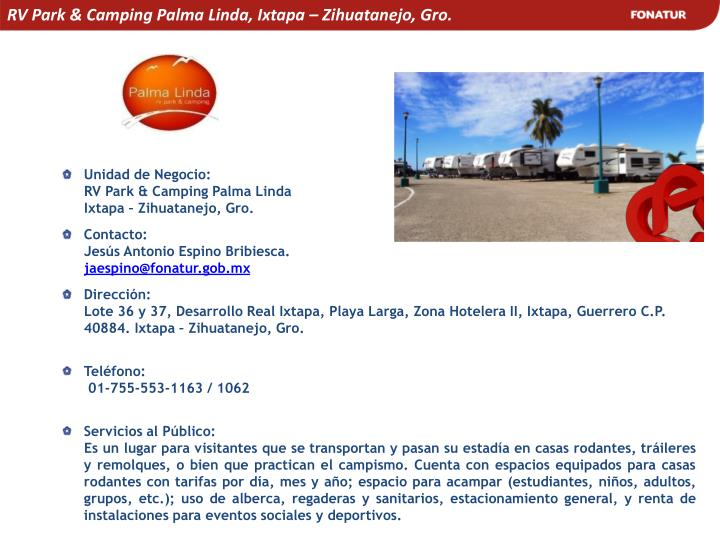 RV Park & Camping Palma Linda, Ixtapa – Zihuatanejo, Gro.