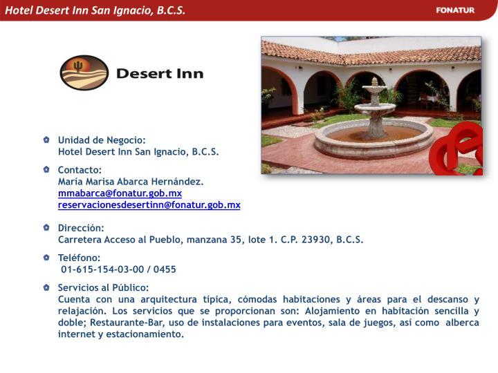 Hotel Desert Inn San Ignacio, B.C.S.