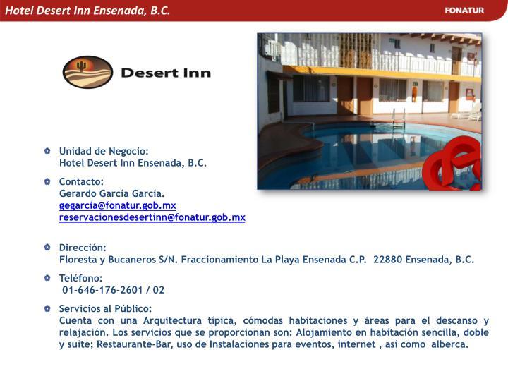 Hotel Desert Inn Ensenada, B.C.