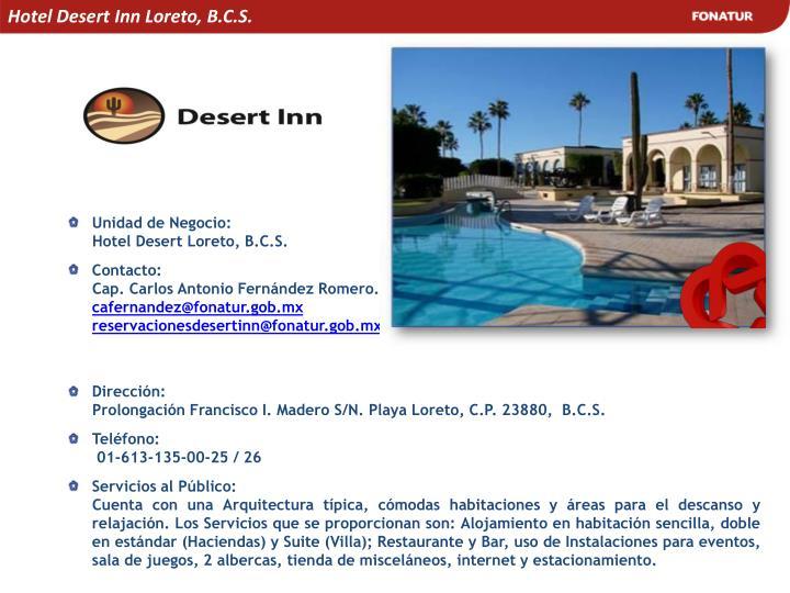 Hotel Desert Inn Loreto, B.C.S.