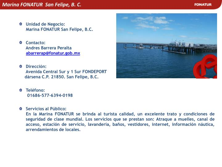 Marina FONATUR  San Felipe, B. C.