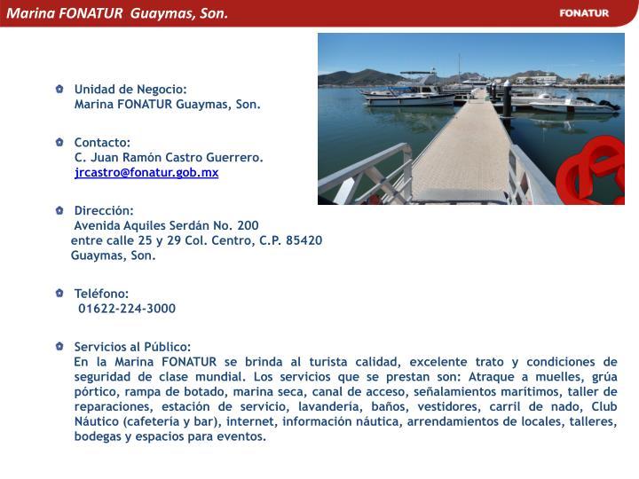 Marina FONATUR  Guaymas, Son.