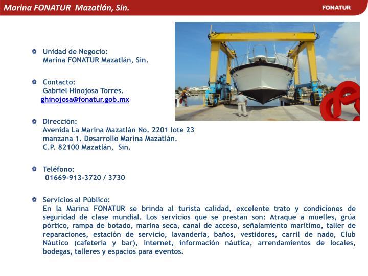 Marina FONATUR  Mazatlán, Sin.