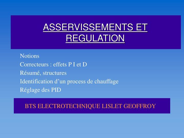 asservissements et regulation