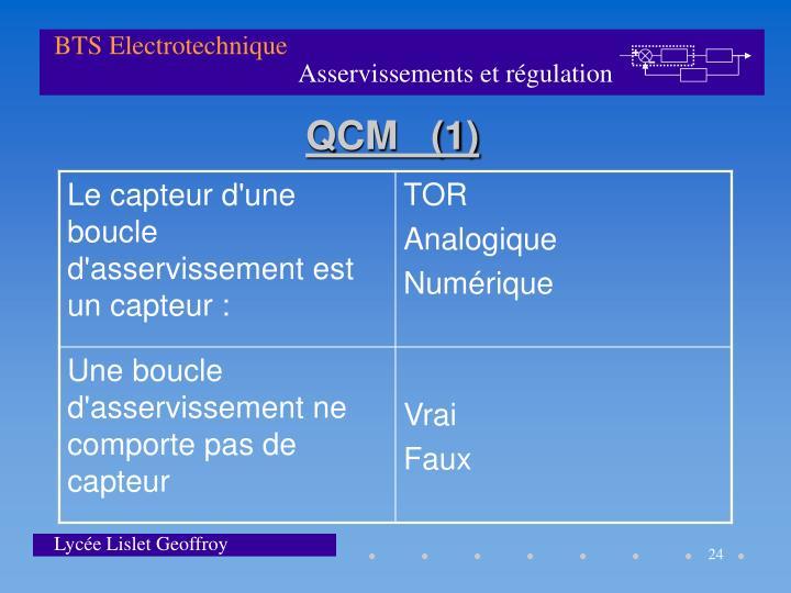 QCM   (1)