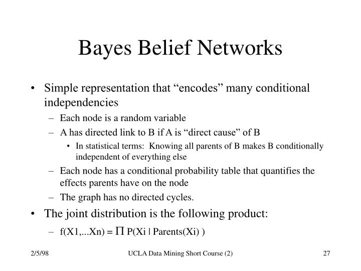 Bayes Belief Networks