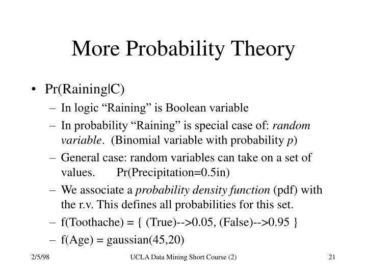 More Probability Theory