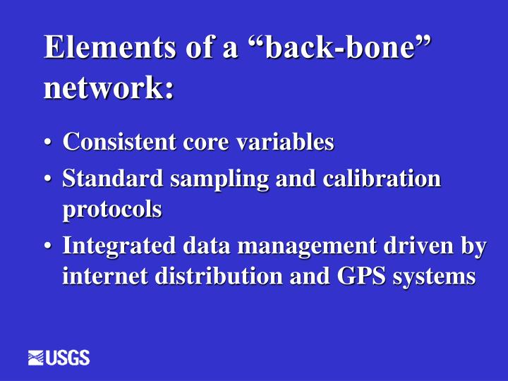 Elements of a back bone network
