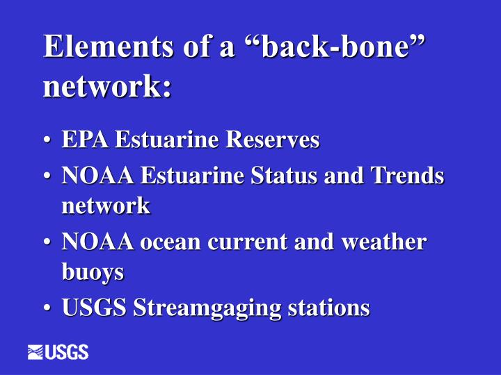 "Elements of a ""back-bone"" network:"