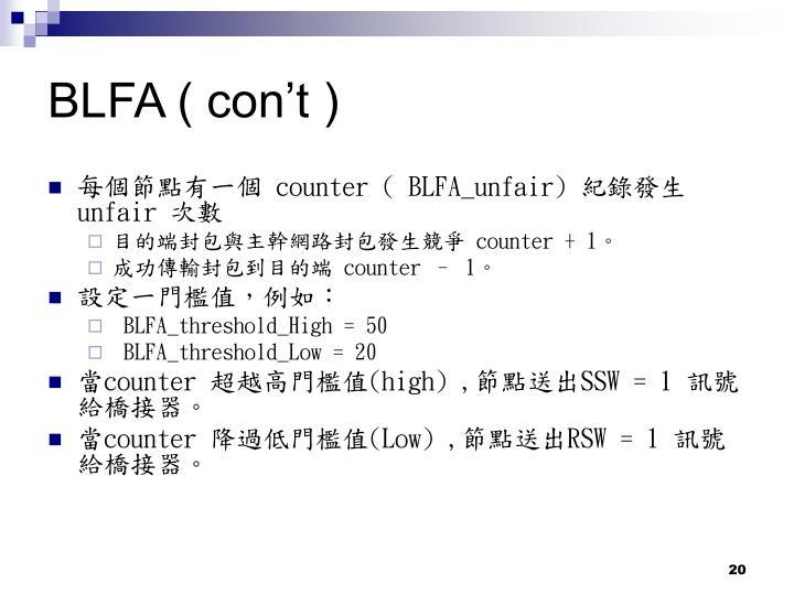 BLFA ( con't )