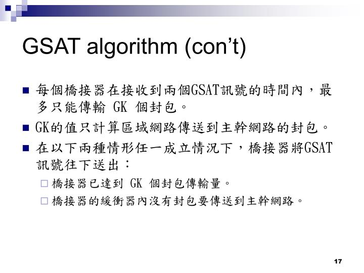 GSAT algorithm (con't)