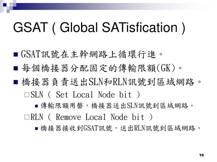 GSAT ( Global SATisfication )