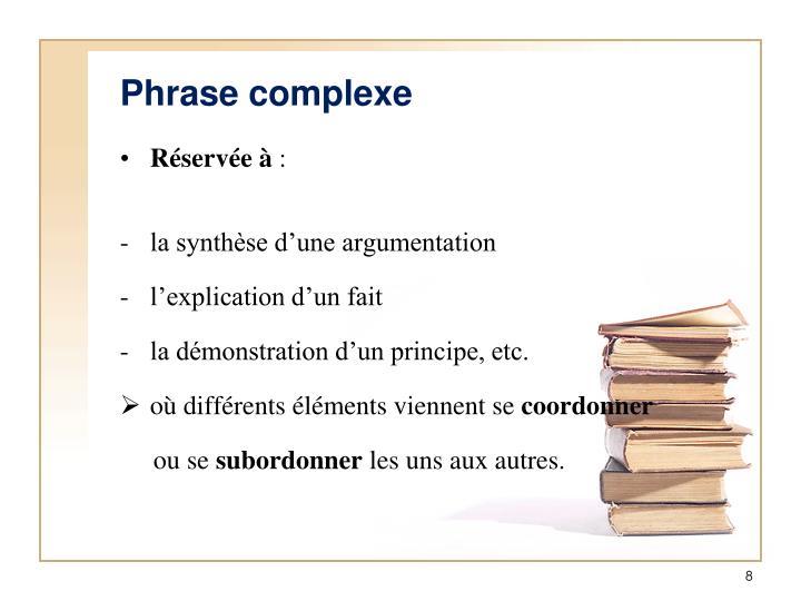 Phrase complexe