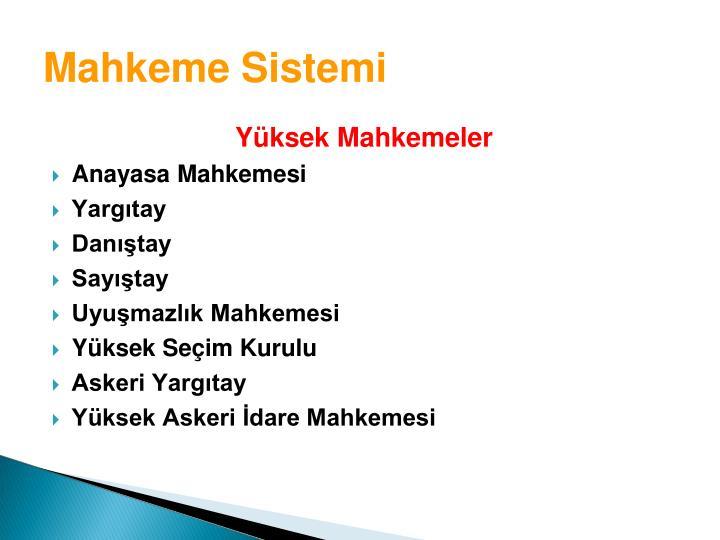 Mahkeme Sistemi