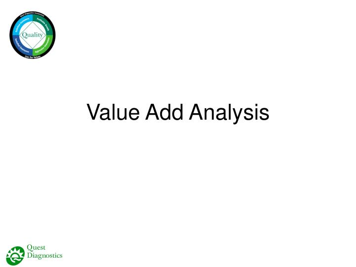 Value Add Analysis
