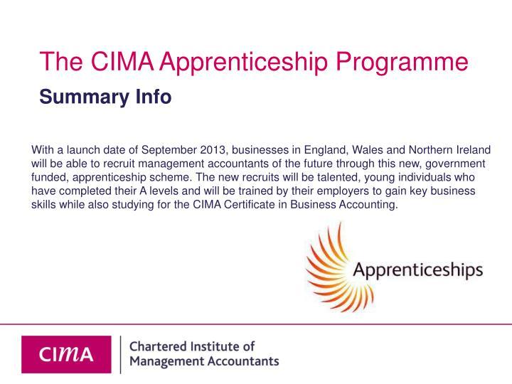 The CIMA Apprenticeship Programme